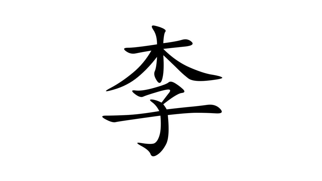 לי - שם משפחה נפוץ בסינית מנדרינית